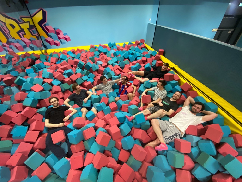 Relaxing in the trampolin park